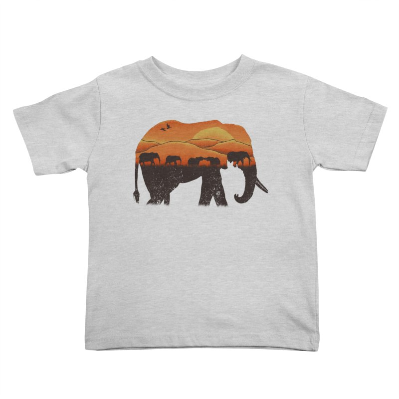 African Elephant Kids Toddler T-Shirt by eikwox's Artist Shop