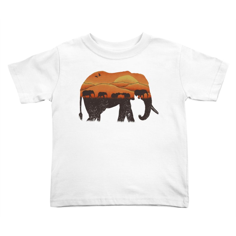 African Elephant Kids Toddler T-Shirt by eikwox's Artist Shop