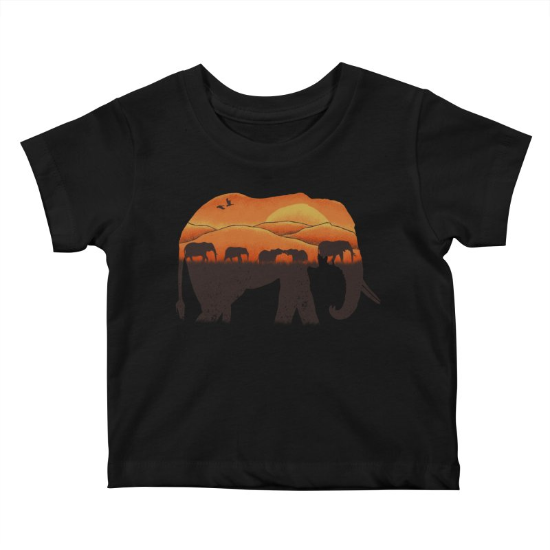 African Elephant Kids Baby T-Shirt by eikwox's Artist Shop