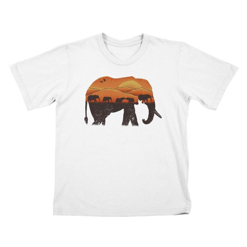 African Elephant Kids T-Shirt by eikwox's Artist Shop