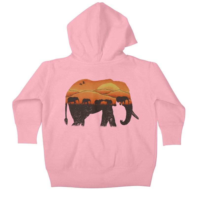 African Elephant Kids Baby Zip-Up Hoody by eikwox's Artist Shop