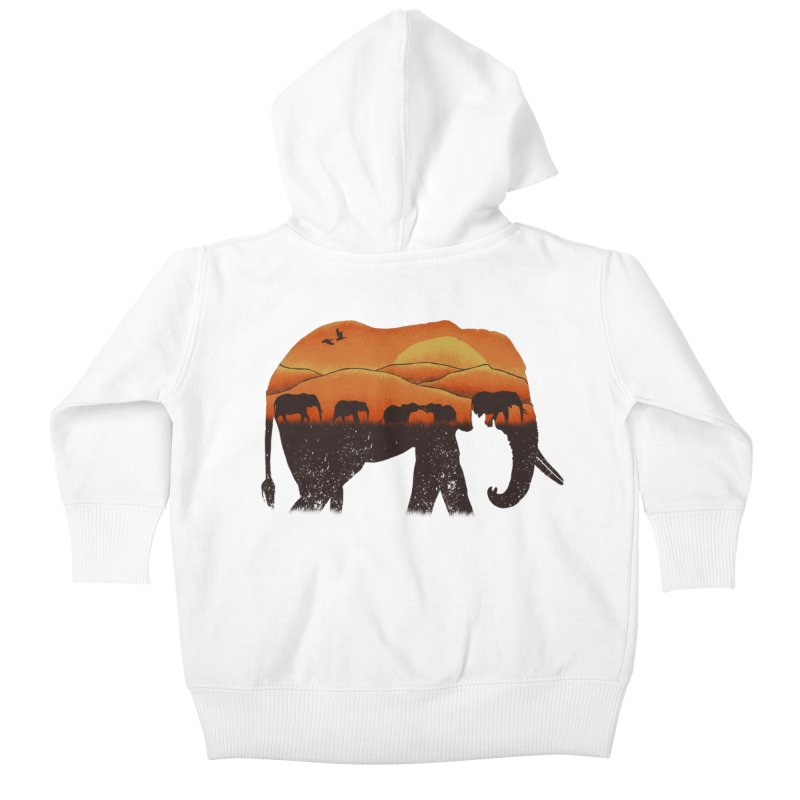 African Elephant Kids Baby Zip-Up Hoody by eikwox's Artist Shop