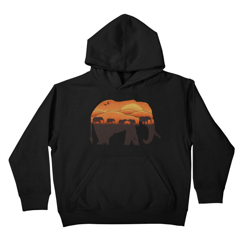 African Elephant Kids Pullover Hoody by eikwox's Artist Shop