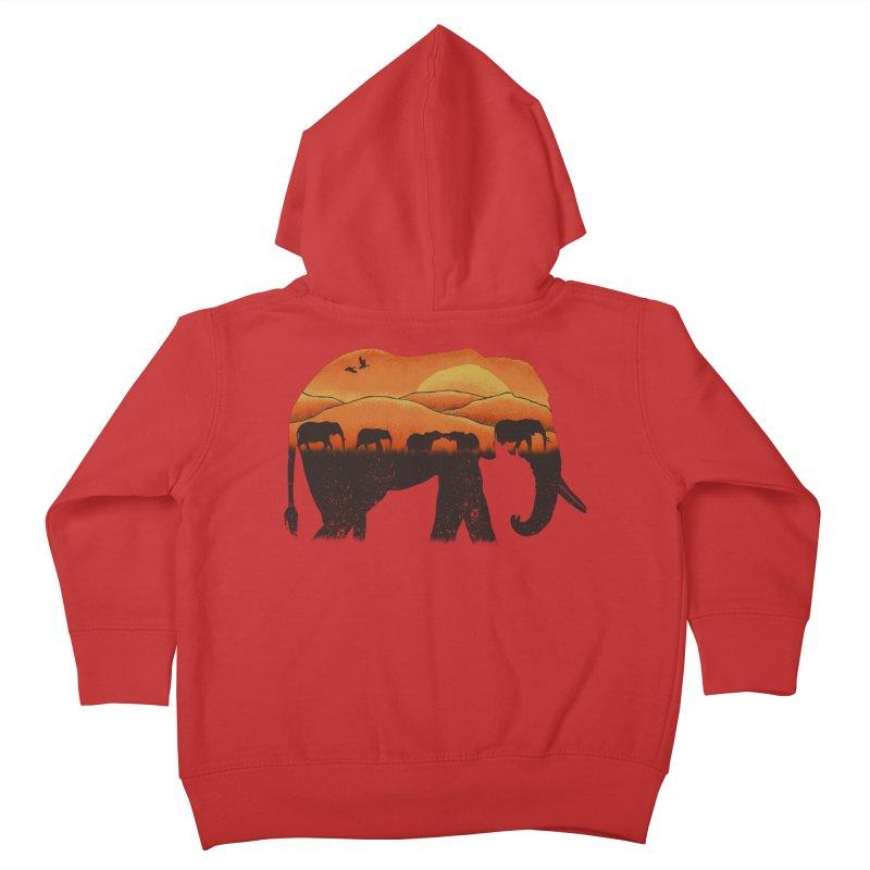 African Elephant Kids Toddler Zip-Up Hoody by eikwox's Artist Shop