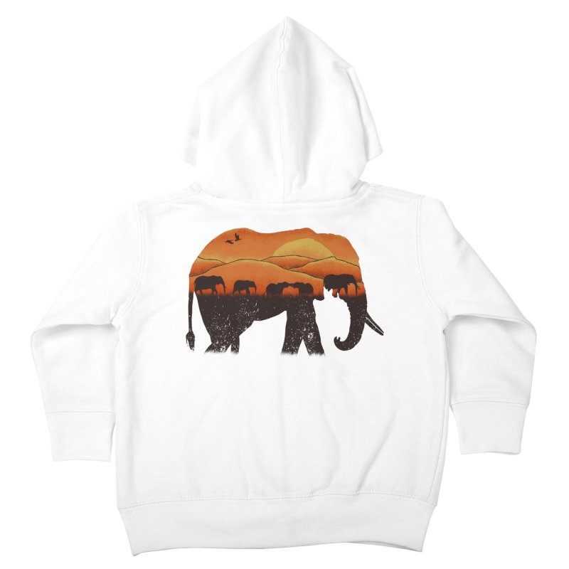 African Elephant Kids Toddler Zip-Up Hoody by eikwox's Artist Shop