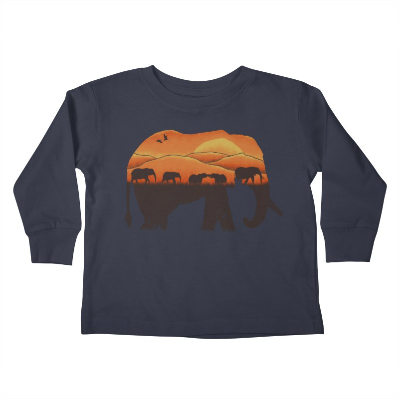 African Elephant Kids Toddler Longsleeve T-Shirt by eikwox's Artist Shop