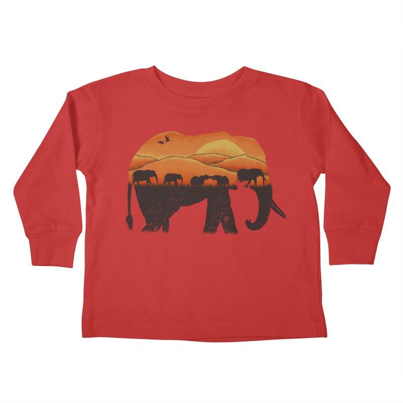 African Elephant Kids Toddler Longsleeve T-Shirt by eikwox's Artist Shop