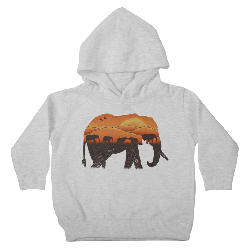 African Elephant Kids Toddler Pullover Hoody by eikwox's Artist Shop