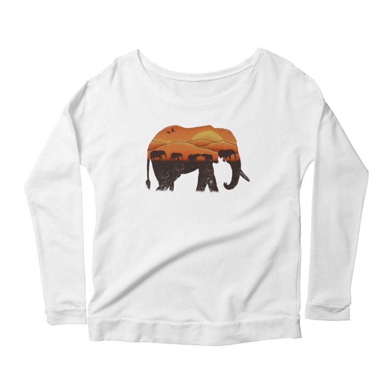 African Elephant Women's Scoop Neck Longsleeve T-Shirt by eikwox's Artist Shop
