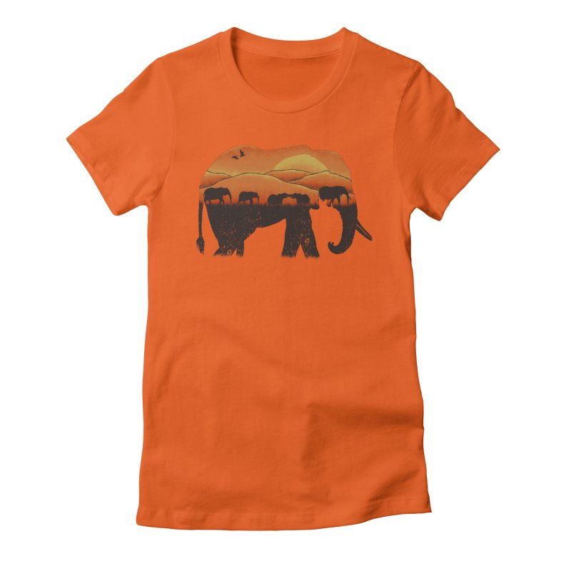 African Elephant Women's Fitted T-Shirt by eikwox's Artist Shop