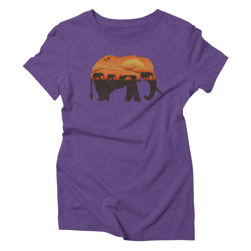 African Elephant Women's Triblend T-shirt by eikwox's Artist Shop