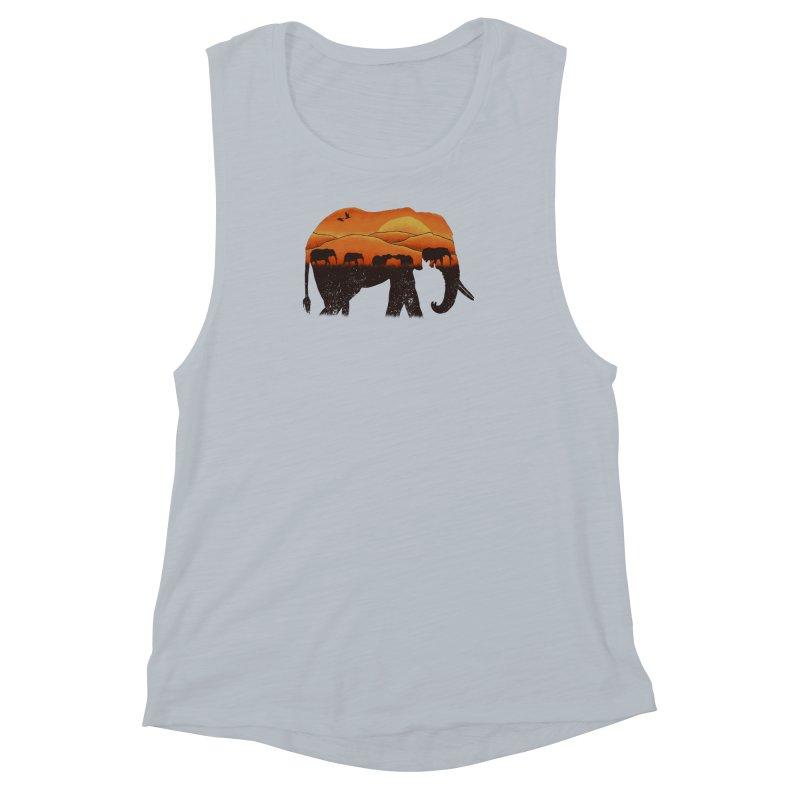 African Elephant Women's Muscle Tank by eikwox's Artist Shop