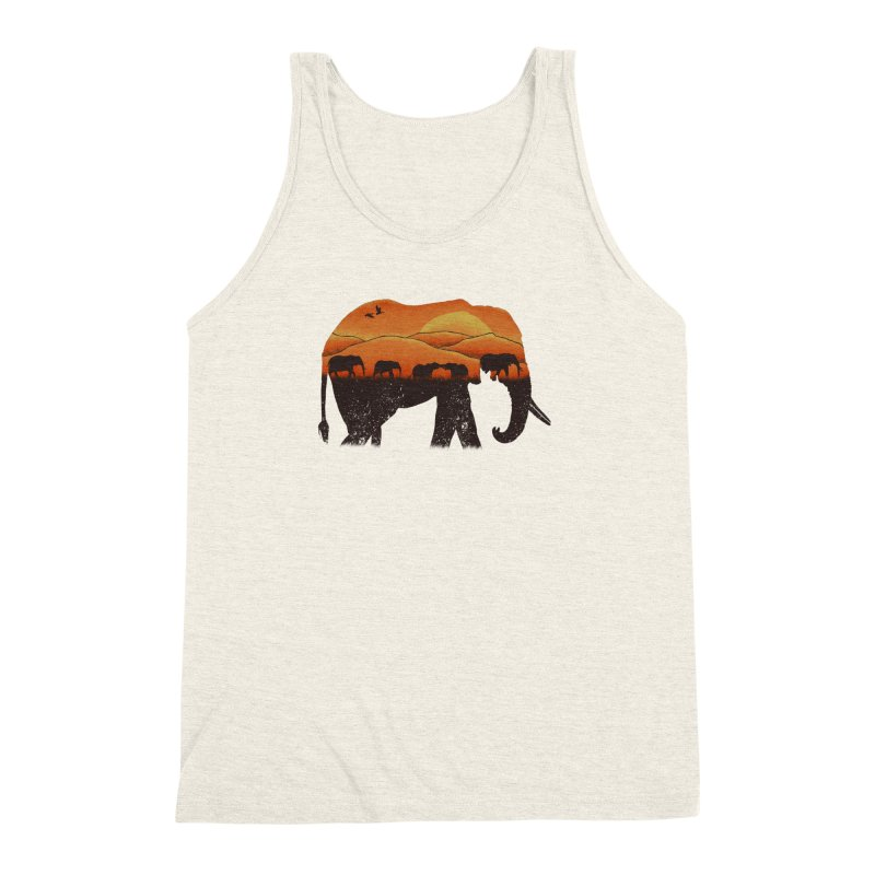 African Elephant Men's Triblend Tank by eikwox's Artist Shop