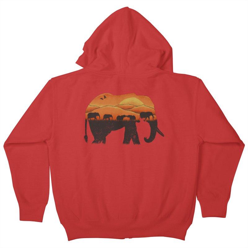 African Elephant Kids Zip-Up Hoody by eikwox's Artist Shop