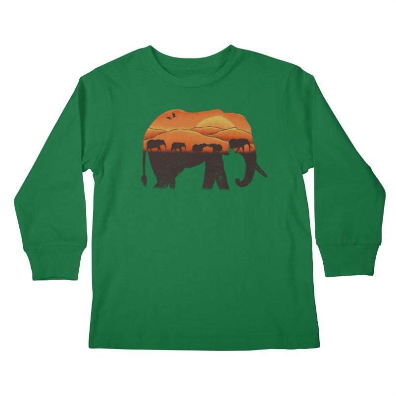African Elephant Kids Longsleeve T-Shirt by eikwox's Artist Shop