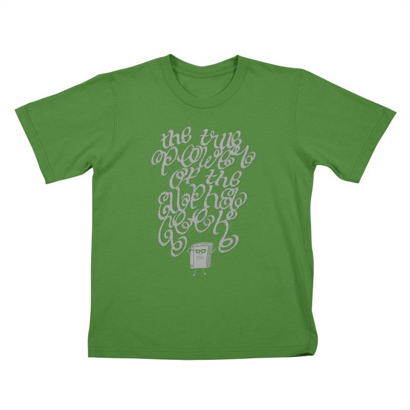 Alpha Geek Kids T-Shirt by eikwox's Artist Shop