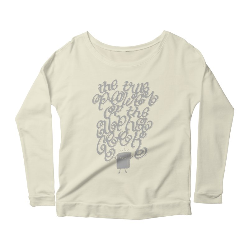 Alpha Geek Women's Longsleeve Scoopneck  by eikwox's Artist Shop