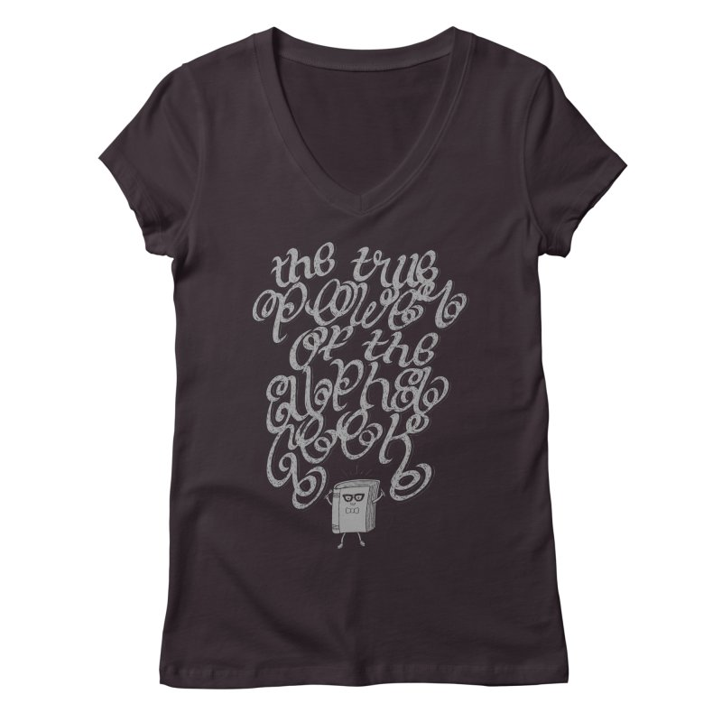 Alpha Geek Women's V-Neck by eikwox's Artist Shop