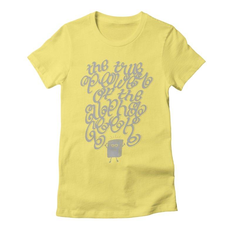 Alpha Geek Women's Fitted T-Shirt by eikwox's Artist Shop