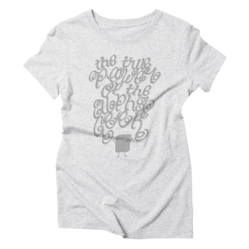 Alpha Geek Women's Triblend T-Shirt by eikwox's Artist Shop
