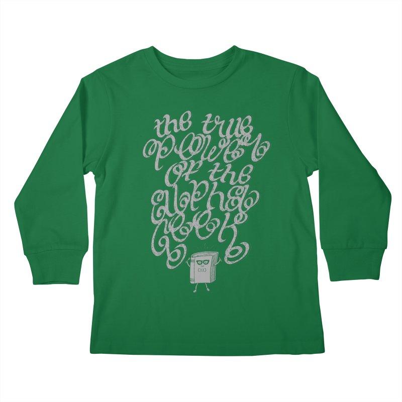 Alpha Geek Kids Longsleeve T-Shirt by eikwox's Artist Shop