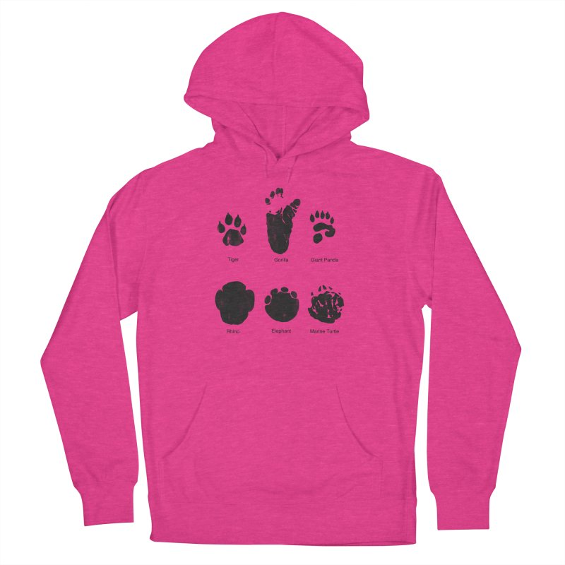 Animal Tracks Women's French Terry Pullover Hoody by eikwox's Artist Shop