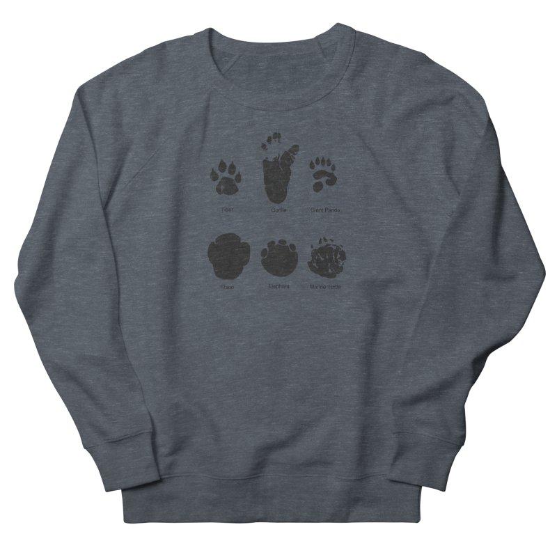 Animal Tracks Women's French Terry Sweatshirt by eikwox's Artist Shop