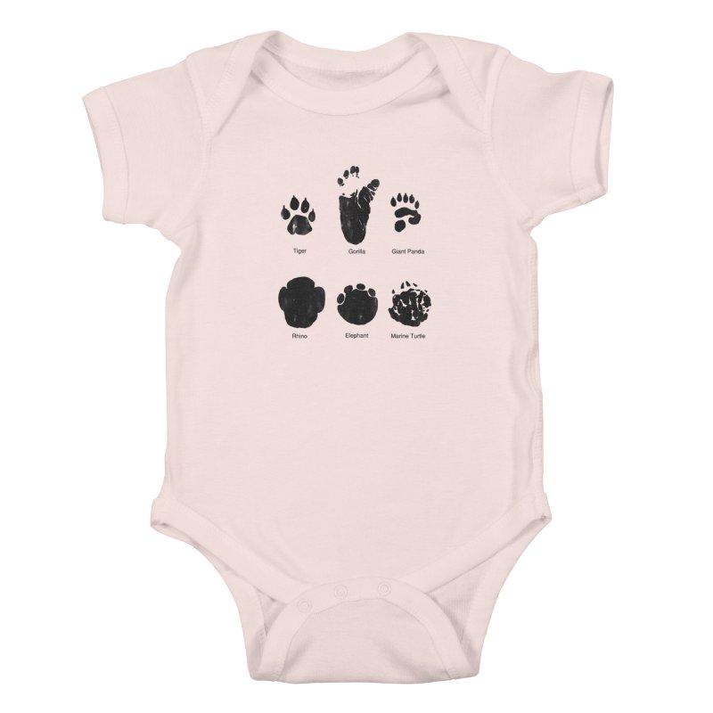 Animal Tracks Kids Baby Bodysuit by eikwox's Artist Shop