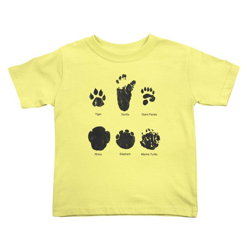Animal Tracks Kids Toddler T-Shirt by eikwox's Artist Shop