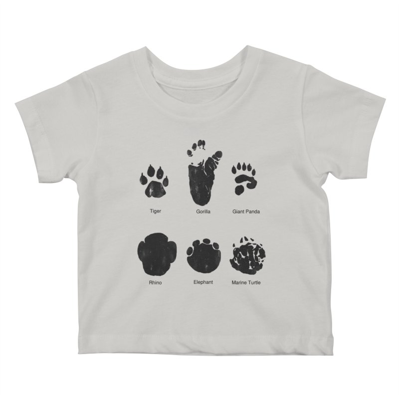 Animal Tracks Kids Baby T-Shirt by eikwox's Artist Shop