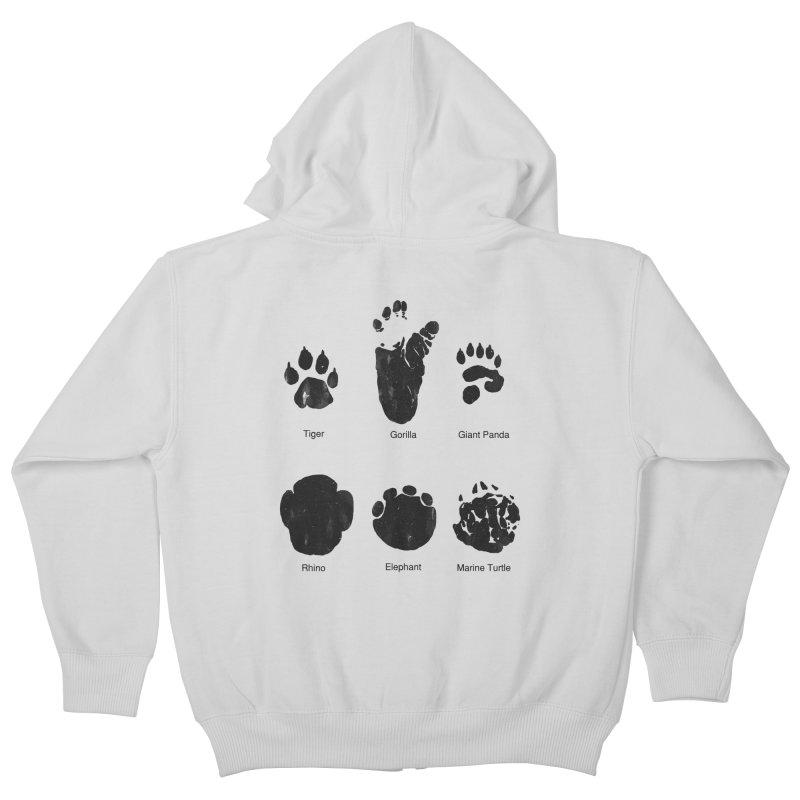 Animal Tracks Kids Zip-Up Hoody by eikwox's Artist Shop