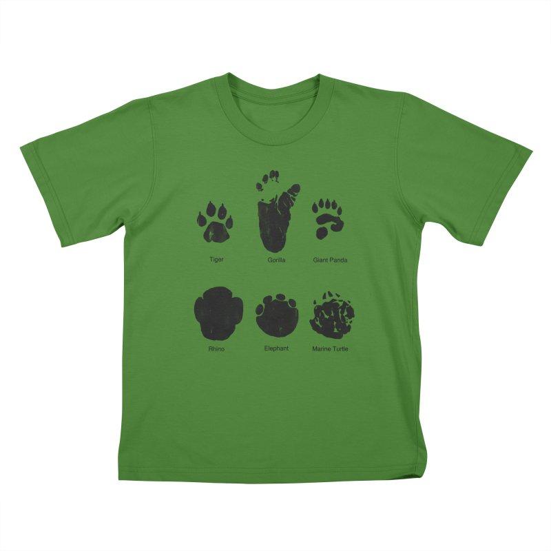 Animal Tracks Kids T-Shirt by eikwox's Artist Shop