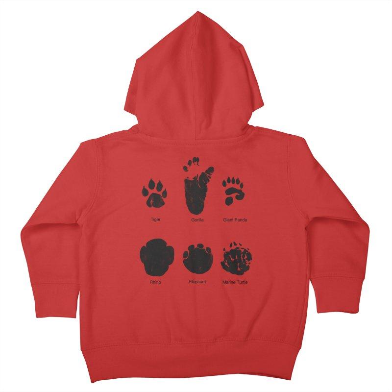 Animal Tracks Kids Toddler Zip-Up Hoody by eikwox's Artist Shop