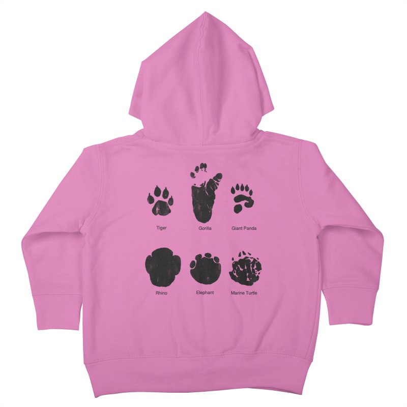 Animal Tracks Kids Toddler Zip-Up Hoody by eikwox's Artist Shop