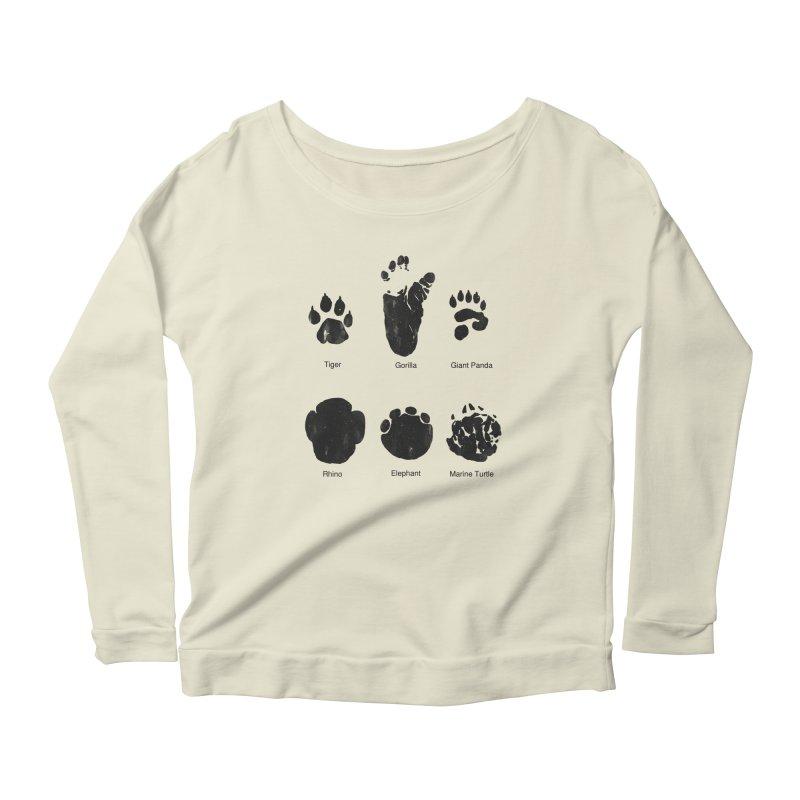 Animal Tracks Women's Scoop Neck Longsleeve T-Shirt by eikwox's Artist Shop