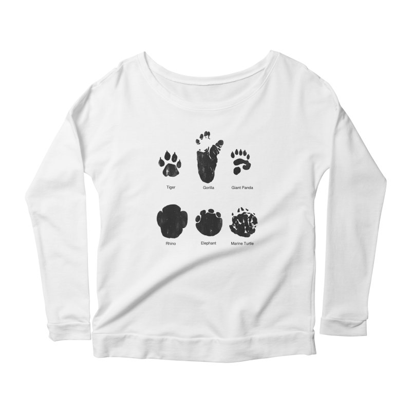 Animal Tracks Women's Longsleeve Scoopneck  by eikwox's Artist Shop
