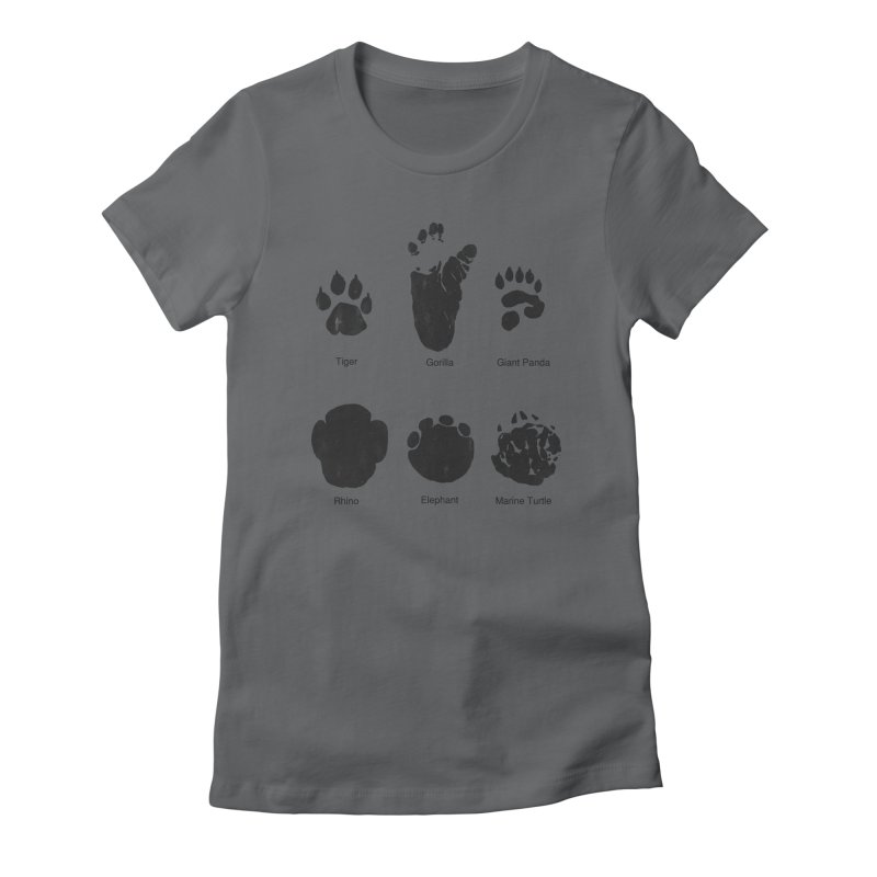 Animal Tracks Women's Fitted T-Shirt by eikwox's Artist Shop