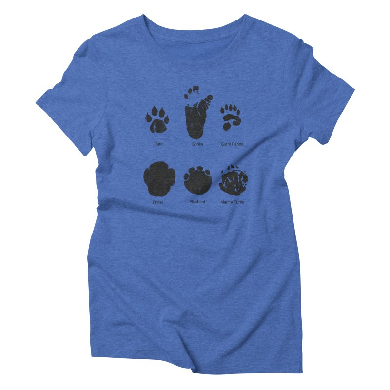 Animal Tracks Women's Triblend T-shirt by eikwox's Artist Shop