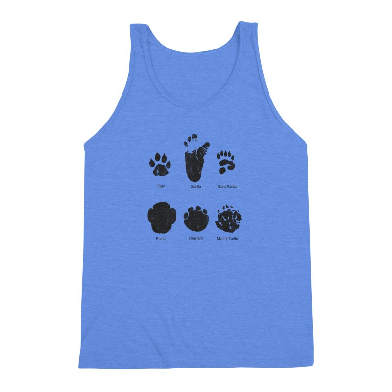 Animal Tracks Men's Triblend Tank by eikwox's Artist Shop