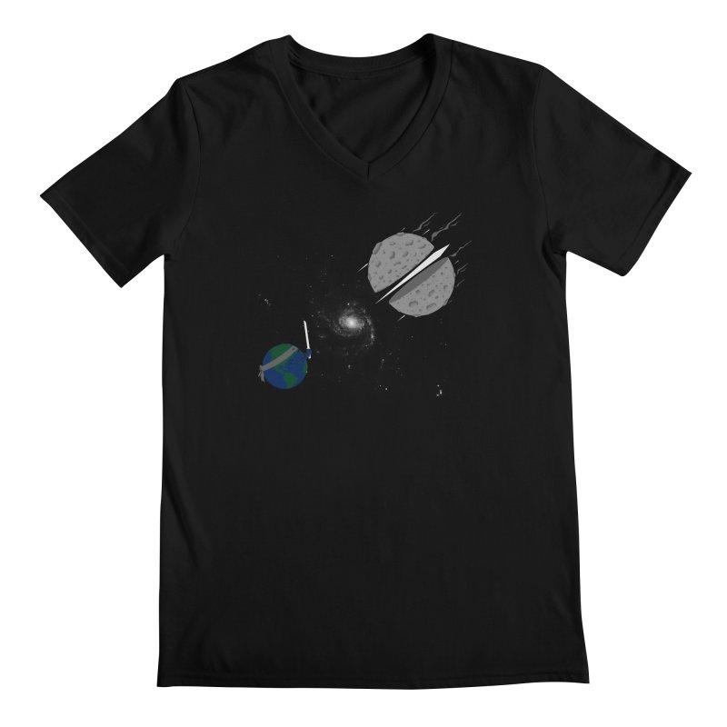 Asteroid Ninja Men's V-Neck by eikwox's Artist Shop