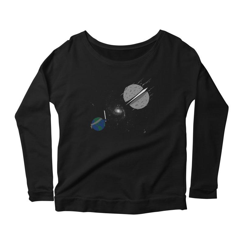 Asteroid Ninja Women's Longsleeve Scoopneck  by eikwox's Artist Shop
