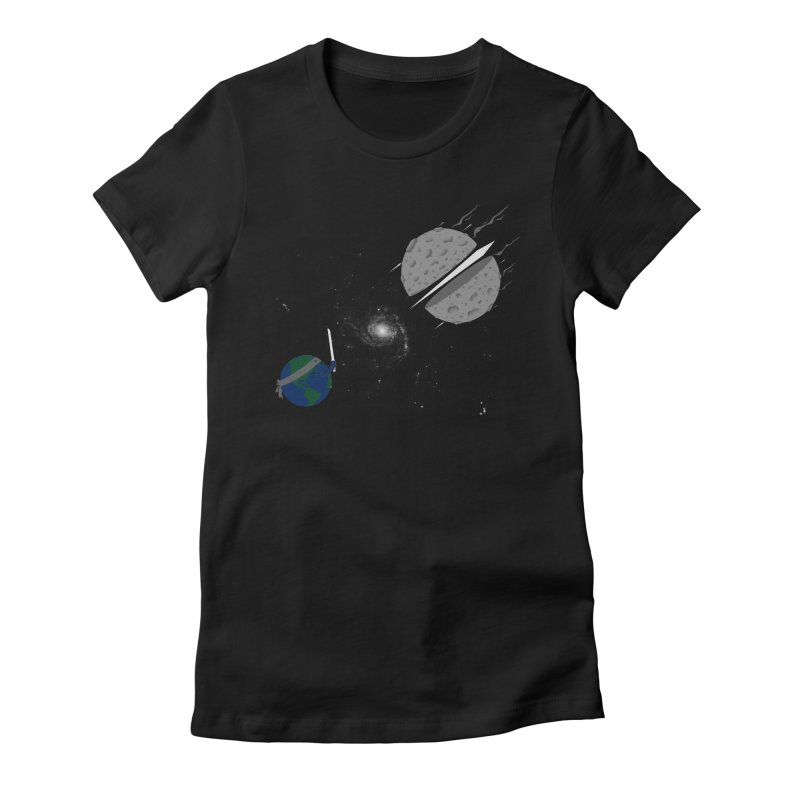 Asteroid Ninja Women's Fitted T-Shirt by eikwox's Artist Shop