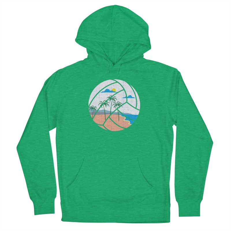 Beach Volleyball Women's French Terry Pullover Hoody by eikwox's Artist Shop