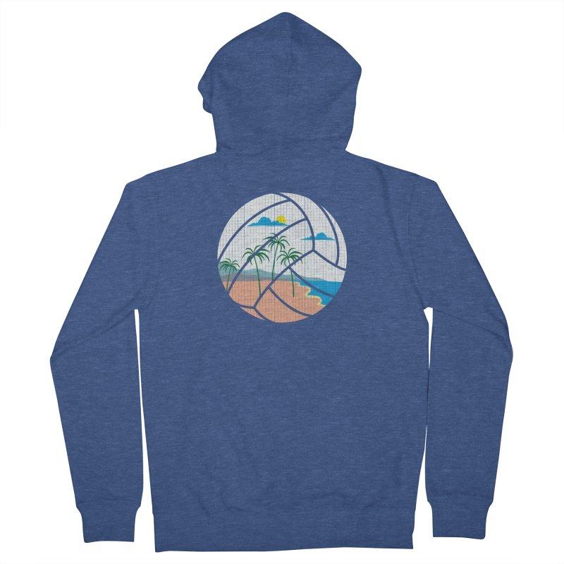 Beach Volleyball Women's Zip-Up Hoody by eikwox's Artist Shop