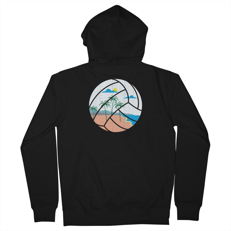 Beach Volleyball Men's Zip-Up Hoody by eikwox's Artist Shop