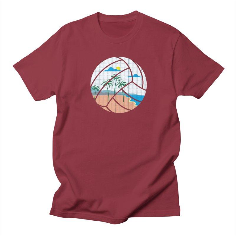 Beach Volleyball Men's Regular T-Shirt by eikwox's Artist Shop