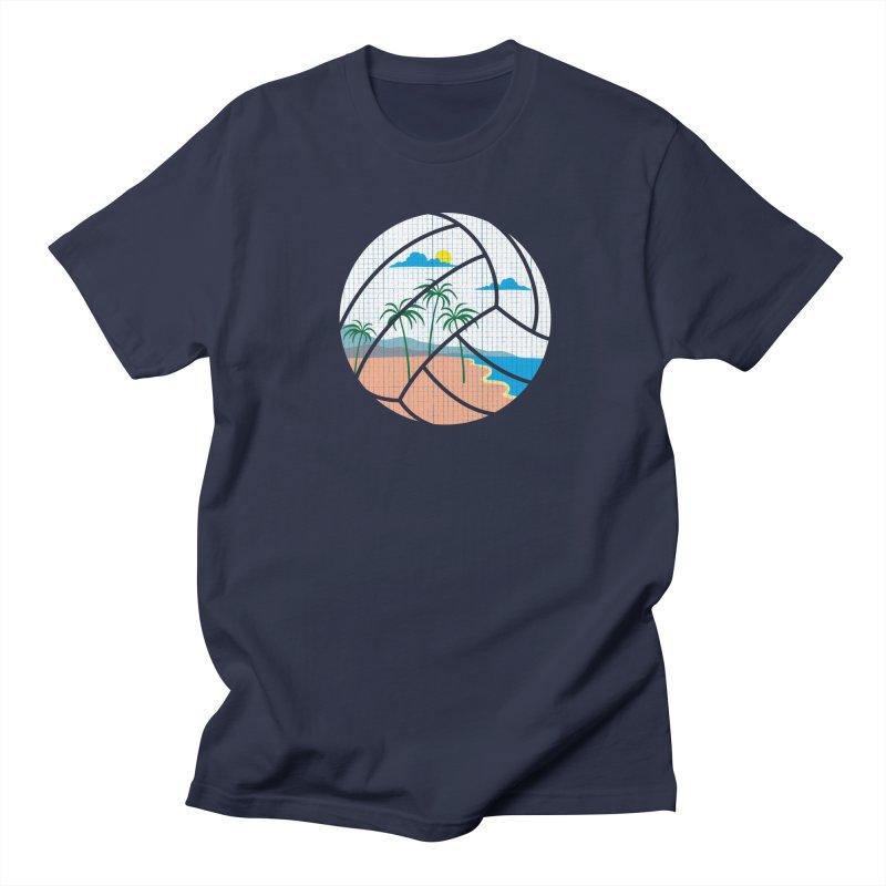 Beach Volleyball Men's T-shirt by eikwox's Artist Shop