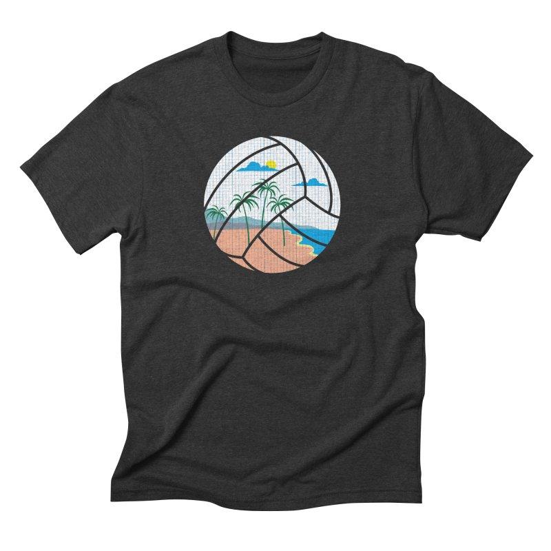 Beach Volleyball Men's Triblend T-shirt by eikwox's Artist Shop