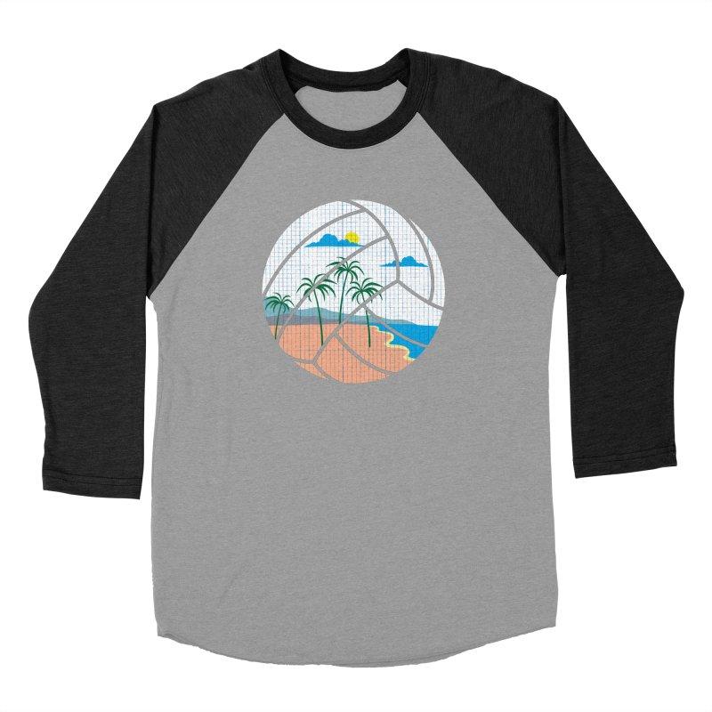 Beach Volleyball Women's Baseball Triblend T-Shirt by eikwox's Artist Shop