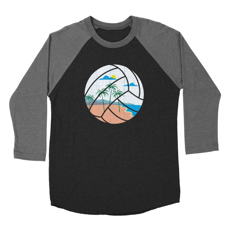 Beach Volleyball Men's Baseball Triblend T-Shirt by eikwox's Artist Shop